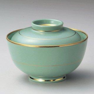 金線もえぎ円菓子碗 和食器 蓋向・円菓子碗 業務用 約12.2cm 和食 和風 蒸し物 煮魚