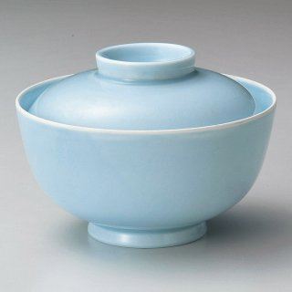 深山青磁お好み碗 蓋付 和食器 蓋向・円菓子碗 業務用 約12.2cm 和食 和風 蒸し物 煮魚