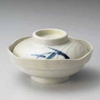 石焼笹蓋向 和食器 蓋向・円菓子碗 業務用 約15.5cm 和食 和風 蒸し物 煮魚