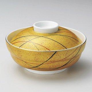 金彩十草京形蓋向 和食器 蓋向・円菓子碗 業務用 約14.2cm 和食 和風 蒸し物 煮魚