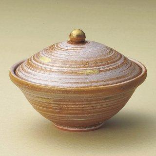 信楽見込青白金銀彩蓋物 和食器 蓋向・円菓子碗 業務用 約13cm 和食 和風 蒸し物 煮魚