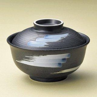 ルリ巻反型円菓子碗 大 和食器 蓋向・円菓子碗 業務用 約12.7cm 和食 和風 蒸し物 煮魚