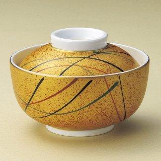 金彩十草円菓子碗 和食器 蓋向・円菓子碗 業務用 約12cm 和食 和風 蒸し物 煮魚