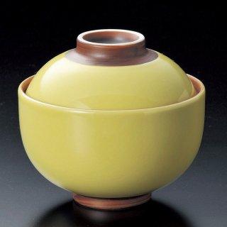 イエロー円菓子碗 大 和食器 蓋向・円菓子碗 業務用 約11cm 和食 和風 蒸し物 煮魚