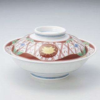 華陽紋7.0骨むし 和食器 蓋向・円菓子碗 業務用 約21.5cm 和食 和風 蒸し物 煮魚