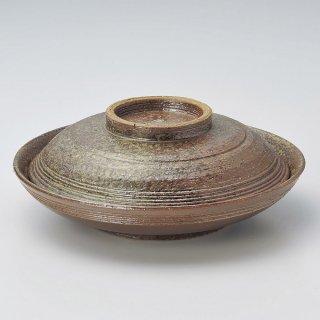 焼締骨むし 和食器 蓋向・円菓子碗 業務用 約20.5cm 和食 和風 蒸し物 煮魚