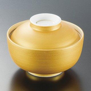 金彩煮物碗 和食器 蓋向・円菓子碗 業務用 約12cm 和食 和風 蒸し物 煮魚