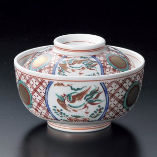 絵変り万歴円菓子碗 和食器 蓋向・円菓子碗 業務用 約11.8cm 和食 和風 蒸し物 煮魚