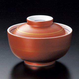 朱巻金駒筋円菓子碗 和食器 蓋向・円菓子碗 業務用 約11.7cm 和食 和風 蒸し物 煮魚