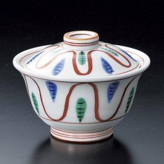 手描赤絵十草煮物碗 和食器 蓋向・円菓子碗 業務用 約11.5cm 和食 和風 蒸し物 煮魚