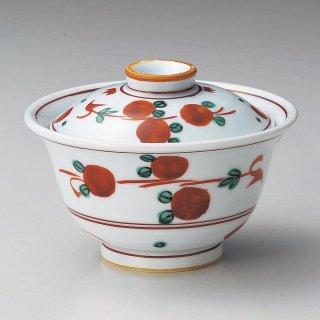 手描赤絵玉花煮物碗 和食器 蓋向・円菓子碗 業務用 約11.5cm 和食 和風 蒸し物 煮魚
