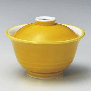 黄釉煮物碗 和食器 蓋向・円菓子碗 業務用 約11.5cm 和食 和風 蒸し物 煮魚