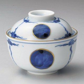 青丸紋小煮物碗 和食器 蓋向・円菓子碗 業務用 約10.3cm 和食 和風 蒸し物 煮魚