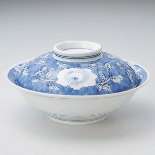 一珍牡丹8.0骨むし 和食器 蓋向・円菓子碗 業務用 約24.8cm 和食 和風 蒸し物 煮魚