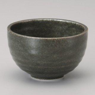 窯変織部いっぷく碗 和食器 一服碗・ゆったり碗・汲み出し 業務用 約10.5×6.5cm 和風 和菓子屋 和カフェ お茶 スープ