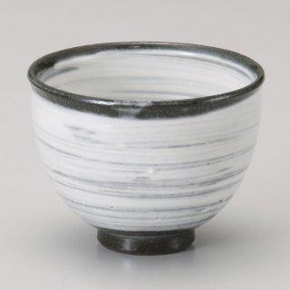 粉引刷毛目一服碗 和食器 一服碗・ゆったり碗・汲み出し 業務用 約9.5×7.3cm 和風 和菓子屋 和カフェ お茶 スープ