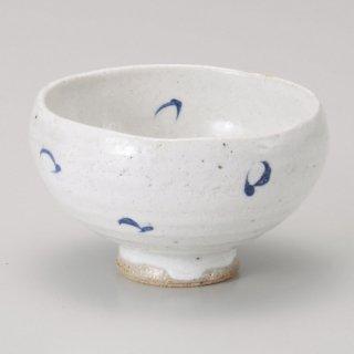 呉須丸紋千茶 和食器 一服碗・ゆったり碗・汲み出し 業務用 約10.5×6.5cm 和風 和菓子屋 和カフェ お茶 スープ
