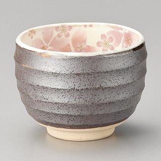 粉引舞桜一服碗 ピンク 和食器 一服碗・ゆったり碗・汲み出し 業務用 約10×7.6cm 和風 和菓子屋 和カフェ お茶 スープ