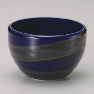 銀彩ブルーころころ碗 和食器 一服碗・ゆったり碗・汲み出し 業務用 約10.5×7.2cm 和風 和菓子屋 和カフェ お茶