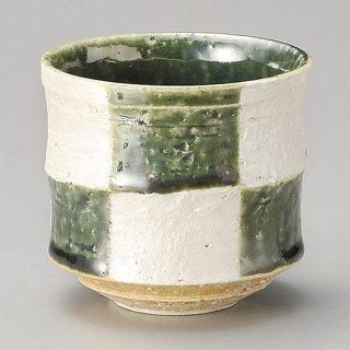 銀彩織部切立たっぷり碗 和食器 一服碗・ゆったり碗・汲み出し 業務用 約8.4×8cm 和風 和菓子屋 和カフェ お茶 スープ
