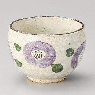 紫椿いっぷく碗 和食器 一服碗・ゆったり碗・汲み出し 業務用 約10×7.2cm 和風 和菓子屋 和カフェ お茶 スープ