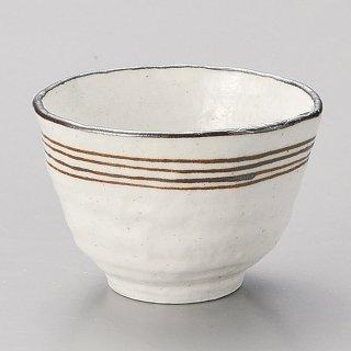 志野流線いっぷく碗 和食器 一服碗・ゆったり碗・汲み出し 業務用 約9.7×6.6cm 和風 和菓子屋 和カフェ お茶 スープ