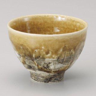 山吹釉面取大汲出 和食器 一服碗・ゆったり碗・汲み出し 業務用 約10.5×7.8cm 和風 和菓子屋 和カフェ お茶 スープ