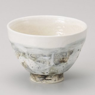 水墨彩面取大汲出 和食器 一服碗・ゆったり碗・汲み出し 業務用 約10.5×7.8cm 和風 和菓子屋 和カフェ お茶 スープ