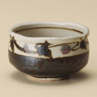 唐草辰砂抹茶碗 和食器 抹茶碗 業務用 約12×7.2cm ぜんざい 茶道教室 茶道 おしゃれ 和テイスト