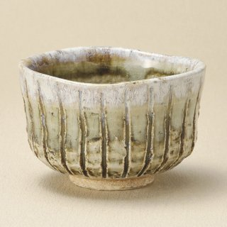 錆均窯削十草彩碗 和食器 抹茶碗 業務用 約11.3×7.2cm ぜんざい 茶道教室 茶道 おしゃれ 和テイスト