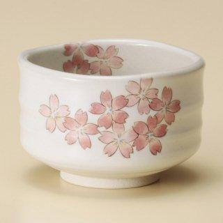 うたげ桜抹茶碗 和食器 抹茶碗 業務用 約11.7×7.6cm ぜんざい 茶道教室 茶道 おしゃれ 和テイスト