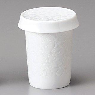 白磁 桜ヒレ酒 和食器 ひれ酒 業務用 約8.2cm 和食 和風 フグ料理 鯛 日本料理 懐石料理 ヒレ酒