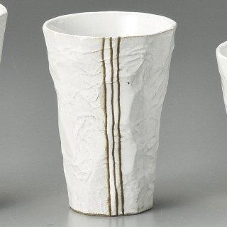 モダン手折一口ビール 白 和食器 フリーカップ 業務用 約7×10cm 和バル 喫茶店 アイスコーヒー 居酒屋
