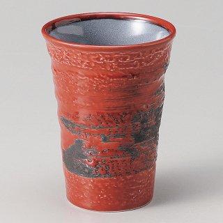 赤釉フリーカップ 和食器 フリーカップ 業務用 約8.2×11.1cm 和バル 喫茶店 アイスコーヒー 居酒屋