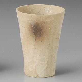 黄信楽手折カップ 小 和食器 フリーカップ 業務用 約8.5×12cm 和バル 喫茶店 アイスコーヒー 居酒屋