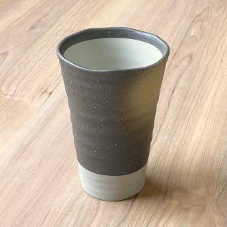 波渕備前吹ビール 和食器 フリーカップ 業務用 約9cm×13.4 和バル 喫茶店 アイスコーヒー 居酒屋 和風ダイニングバー