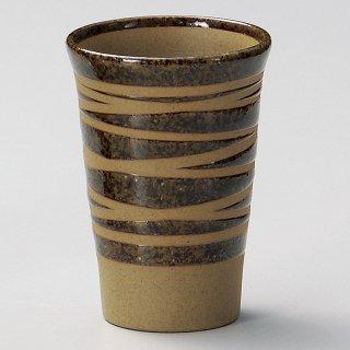 土物ウズフリーカップ茶 和食器 フリーカップ 業務用 約8×11cm 和バル 喫茶店 アイスコーヒー 居酒屋 和風ダイニングバー