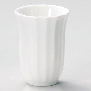 菊割 白フリーカップ 和食器 フリーカップ 業務用 約8×8×10.5cm 和バル 喫茶店 アイスコーヒー 居酒屋