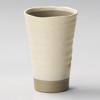 波渕白ウデイビール 和食器 フリーカップ 業務用 約9×13.4cm 和バル 喫茶店 アイスコーヒー 居酒屋 和風ダイニングバー