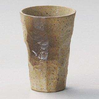 黄信楽一口ビール 和食器 フリーカップ 業務用 約7×10cm 和バル 喫茶店 アイスコーヒー 居酒屋 和風ダイニングバー