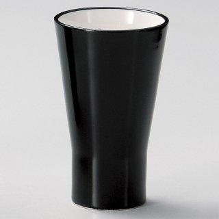 シャインブラックタンブラー 和食器 フリーカップ 業務用 約7.7×12.7cm 和バル 喫茶店 アイスコーヒー 居酒屋