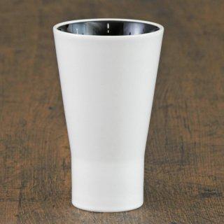 シャインホワイトタンブラー 和食器 フリーカップ 業務用 約7.7×12.7cm 和バル 喫茶店 アイスコーヒー 居酒屋