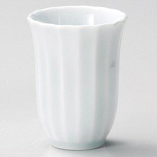 青白磁菊花フリーカップ 和食器 フリーカップ 業務用 約8×10.5cm 和バル 喫茶店 アイスコーヒー 居酒屋