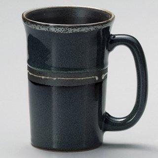 青均窯ジョッキ 和食器 フリーカップ 業務用 約13×9.5×13.2cm 和バル 喫茶店 アイスコーヒー 居酒屋