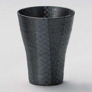 銀彩黒焼酎 大 和食器 フリーカップ 業務用 約9.8×12.3cm 和バル 喫茶店 アイスコーヒー 居酒屋 和風ダイニングバー