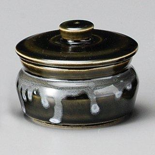 オリベ平型蓋物 和食器 カメ・薬味入れ 業務用