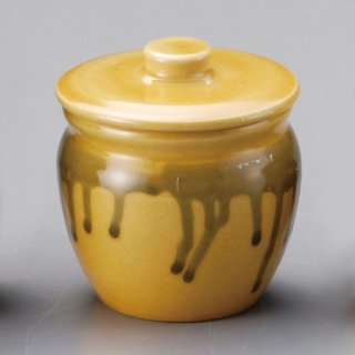 黄2号蓋物 和食器 カメ・薬味入れ 業務用