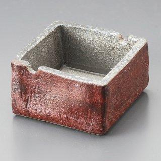 暁3.0角型灰皿 信楽焼 和食器 灰皿 業務用