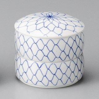 網二段重 中 和食器 蓋物・段重 業務用 約9.6cm 和食 和風 和菓子 煮物 漬物 花見