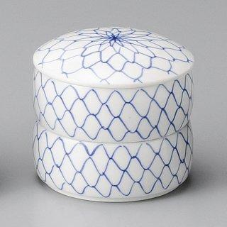 網二段重 小 和食器 蓋物・段重 業務用 約7cm 和食 和風 和菓子 煮物 漬物 花見
